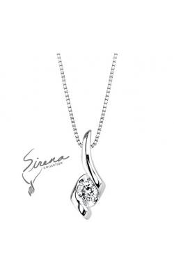 Sirena Diamond Pendant in 14K White Gold, 1/10ctw product image