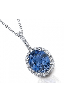 LORELEI Blue And White Sapphire Necklace In Sterling Silver product image