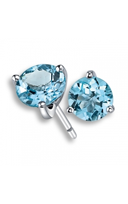 Blue Topaz Stud Earrings, 7mm product image