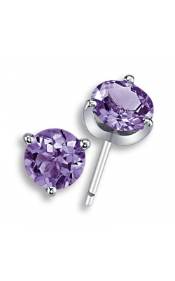 Amethyst Stud Earrings, 7mm product image