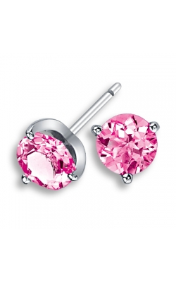 LORELEI Pink Sapphire Stud Earrings, 7mm product image