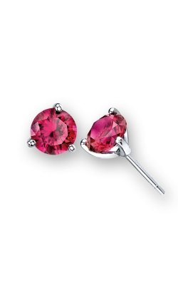 LORELEI Ruby Stud Earrings, 7mm product image