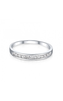 Channel Set Diamond Band In White Gold, 1/5ctw product image