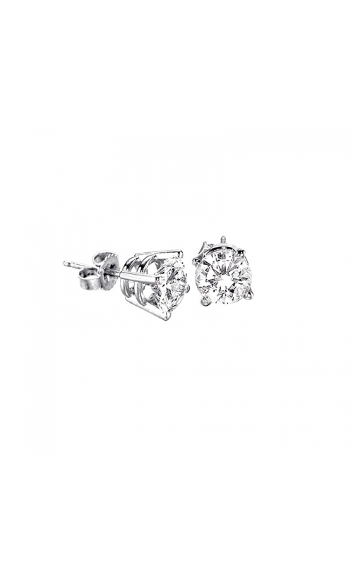 Supreme Round Diamond Solitaire Stud Earrings in 14K White Gold, 1/4ctw product image