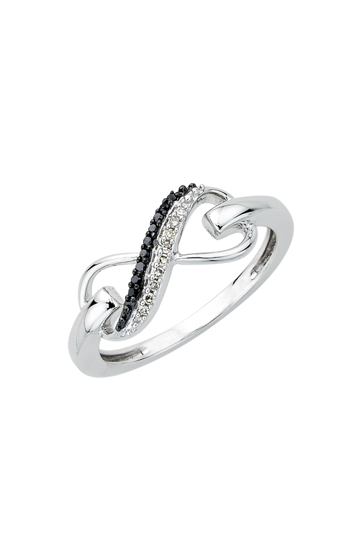 Black & White Diamond Infinity Ring in Sterling Silver product image