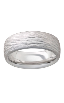 Men's Serinium Bark Hand Finish Band, 8mm product image