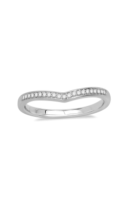 Chevron Diamond Anniversary Band In 14k White Gold, 1/10ctw product image