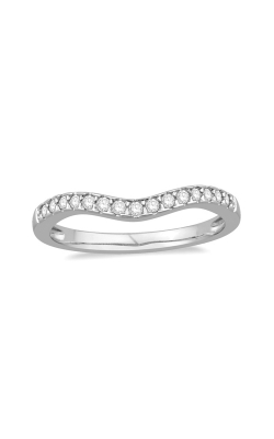 Diamond Chevron Anniversary Band In 14K White Gold, 1/8ctw product image