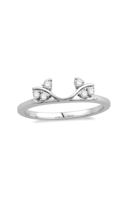 Vine Diamond Solitaire Enhancer In 14k White Gold, 1/8ctw product image
