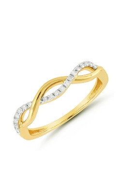 Diamond Twist Infinity Ring in Yellow Gold, 1/10ctw product image