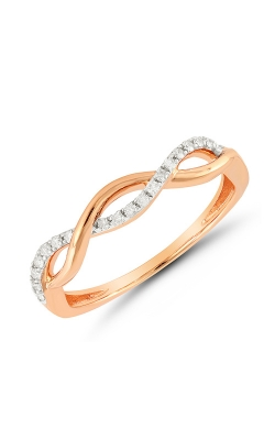 Diamond Twist Infinity Ring in Rose Gold, 1/10ctw product image
