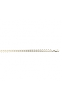 Men's 7mm Curb Chain in Sterling Silver, 22 Inch product image