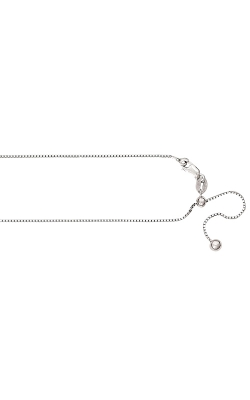 1.1mm Adjustable Box Chain Necklace in Sterling Silver - 22 Inch product image