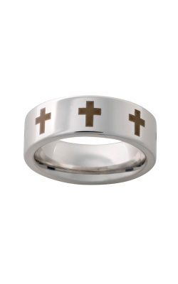 Men's 8mm Serinium Cross Band product image