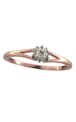 Flower Halo Diamond Promise Ring in Rose Gold, 1/10ctw product image