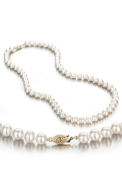 Freshwater White Pearl Necklace with 14k Yellow Gold Clasp product image