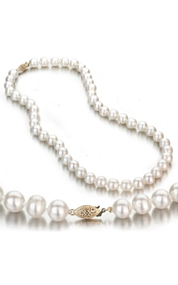 White Pearl Necklace in 14k Yellow Gold product image