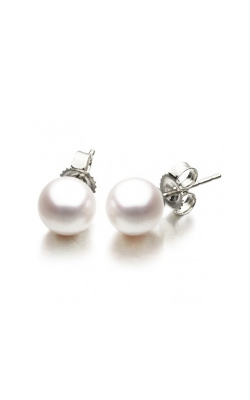 7 - 7.5mm Pearl Stud Earrings in 14K White Gold product image