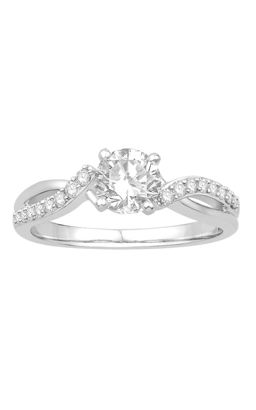 Ladies Diamond Semi-Mount Engagement Ring in 14K White Gold, 1/5ctw product image