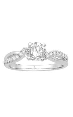 Ladies Diamond Semi-Mount Engagement Ring in 14K White Gold, 1/5ctw product image