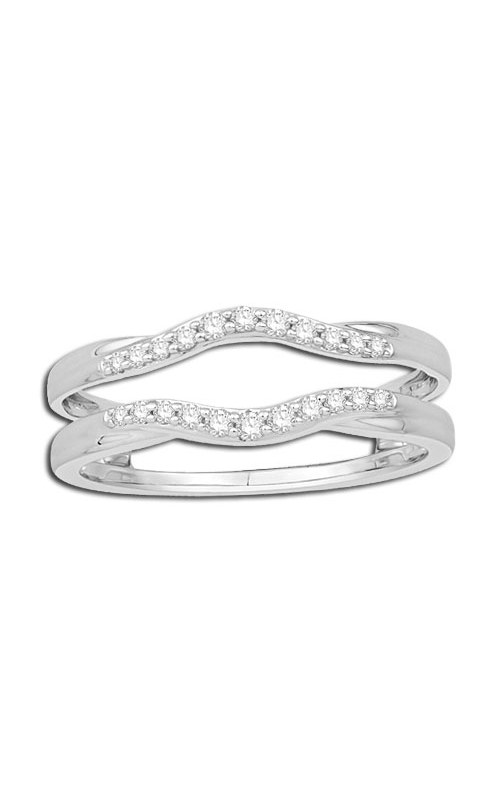Ladies Diamond Chevron Solitaire Enhancer in 14K White Gold, 1/5ctw product image