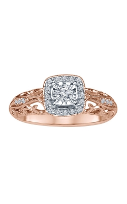Ladies Vintage-Style Diamond Engagement Ring In Rose Gold, 1/5ctw product image