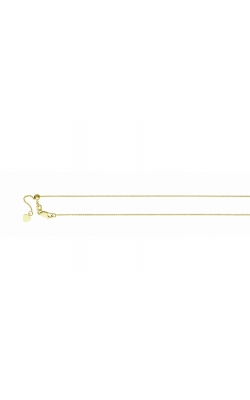 Adjustable 1.2mm Cable Chain Necklace in 14K Yellow Gold - 22 Inch product image