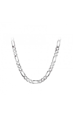 Men's Sterling Silver 6mm Figaro Chain, 22 Inch product image