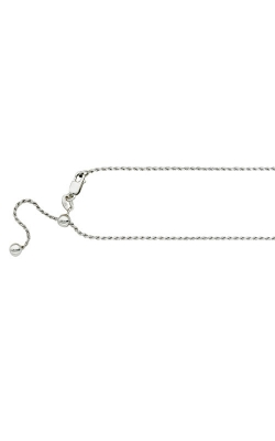 1.1mm Adjustable Rope Chain Necklace in Sterling Silver - 22 Inch product image