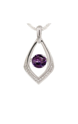 Amethyst Birthstone Ballet Pendant In Sterling Silver product image