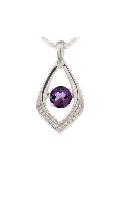 Alexandrite Birthstone Ballet Pendant In Sterling Silver product image
