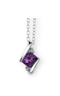 Amethyst And Diamond Pendant In Sterling Silver product image