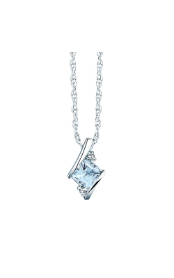 Aquamarine And Diamond Pendant In Sterling Silver product image