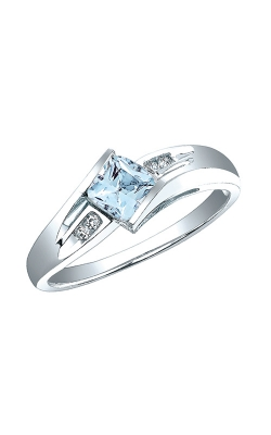 Aquamarine and Diamond Ring in Sterling Silver product image