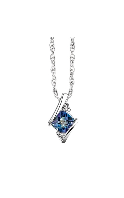 Created Alexandrite And Diamond Pendant In Sterling Silver product image
