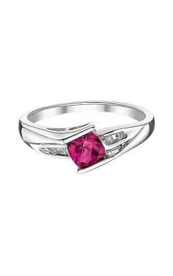 Created Ruby And Diamond Ring In Sterling Silver product image