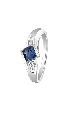 Created Sapphire And Diamond Ring In Sterling Silver product image