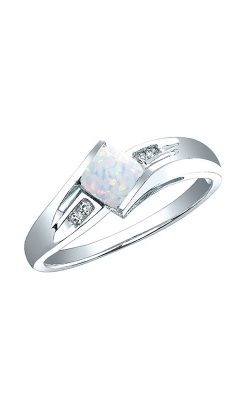 Created Opal And Diamond Ring In Sterling Silver product image