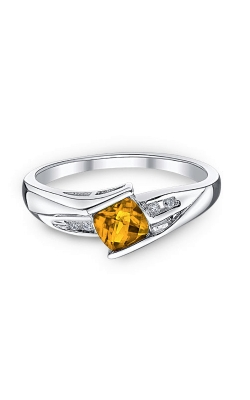 Citrine and Diamond Ring in Sterling Silver product image