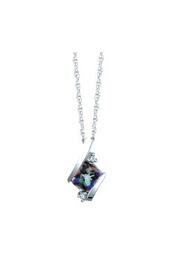Mystic Fire And Diamond Pendant In Sterling Silver product image