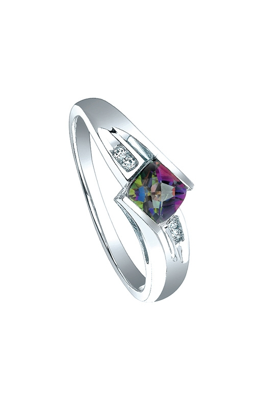 Mystic Fire and Diamond Ring in Sterling Silver product image