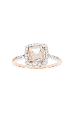 Cushion Morganite and Diamond Ring in Rose Gold product image