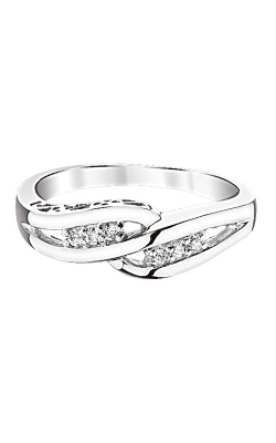 Endless Promise Diamond Bypass Ring in Sterling Silver, 1/10ctw product image