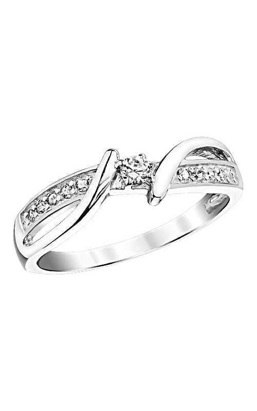 Diamond Twist Shank Endless Promise Ring in Sterling Silver, 1/5ctw product image