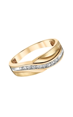 Men's Diamond Band In Yellow Gold, 1/8ctw product image