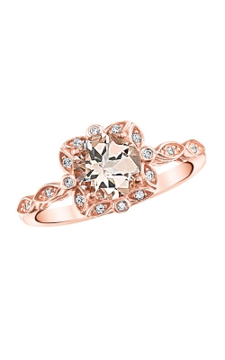Morganite and Diamond Ring in Rose Gold product image