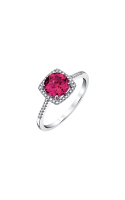 Created Ruby & Diamond Ring In Sterling Silver product image