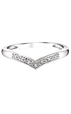Ladies Diamond Accent Chevron Ring product image