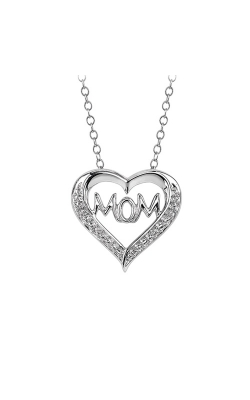 Mom Heart Diamond Pendant in Sterling Silver product image