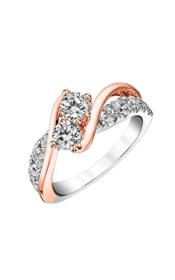 Twogether Two-Stone Diamond Ring in 14K Two-Tone Gold, 1ctw product image